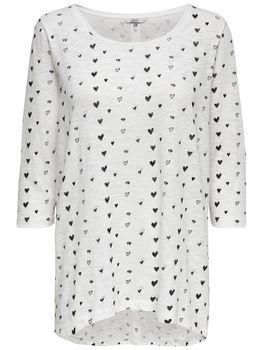 ONLY Damen Pullover Shirt onlCASA 3/4 AOP TOP JRS NOOS vokuhila oversize – Bild 4