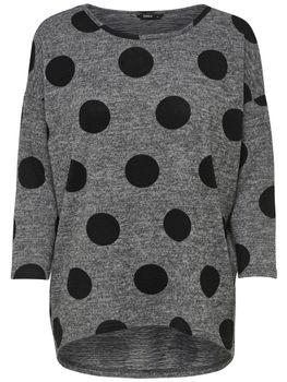 ONLY Damen Oversize Pullover Shirt onlELCOS 4/5 AOP TOP NOOS Strick Anker Punkte Blumen Vögel Streifen – Bild 8