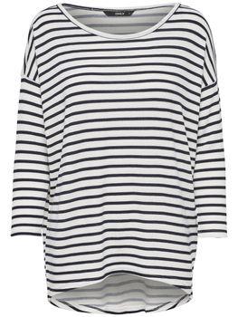 ONLY Damen Oversize Pullover Shirt onlELCOS 4/5 AOP TOP NOOS Strick Anker Punkte Blumen Vögel Streifen – Bild 6