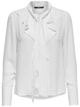 ONLY Damen  Shirt Bluse onlNEW INTU LS FRILL SHIRT Rüsche Schluppe – Bild 2