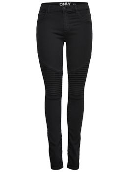 ONLY Damen Jeans Leggings onlRAIN REG SK FRESH BIKER CRY6060 schwarz – Bild 1