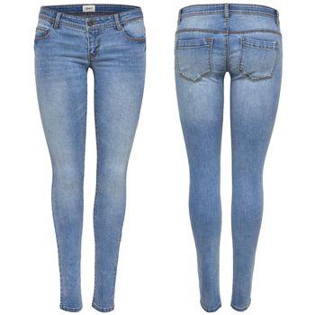 ONLY Damen Jeans Hose onlCORAL SL SK BJ11049 superlow skinny hellblau – Bild 1