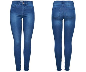 ONLY Damen Jeans Jeggings Hose onlROYAL REG  SKINNY BJ11506 NOOS Denim mittelblau 001