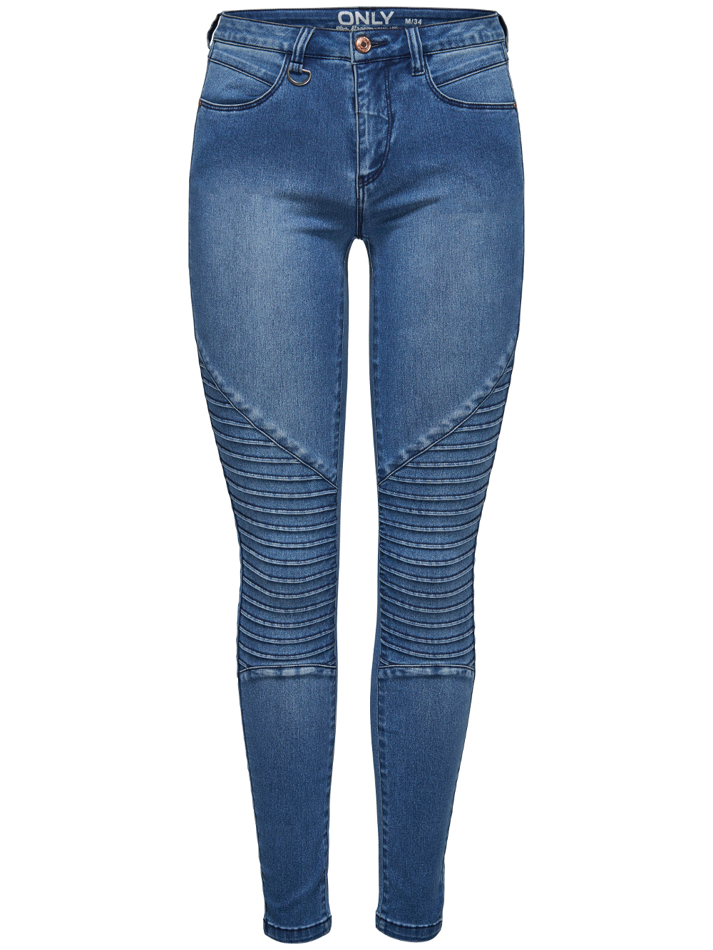 ae617fb980dd ONLY Damen Jeans Leggings onlROYAL REG SKINNY BIKER BJ11503 Jeggings  mittelblau – Bild 2