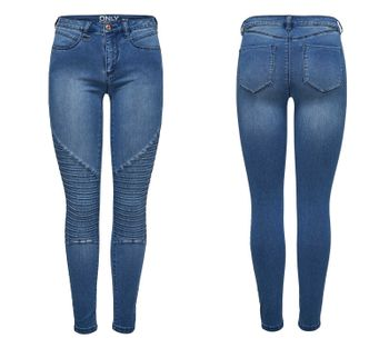 ONLY Damen Jeans Leggings onlROYAL REG SKINNY BIKER BJ11503 Jeggings mittelblau