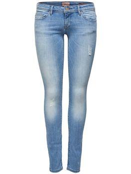 ONLY Damen Jeans Hose onlCORAL SUPERLOW SK JEAN CRE169637 Skinny hellblau – Bild 2