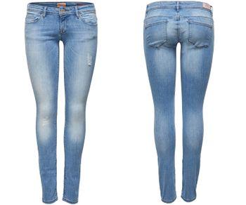 ONLY Damen Jeans Hose onlCORAL SUPERLOW SK JEAN CRE169637 Skinny hellblau