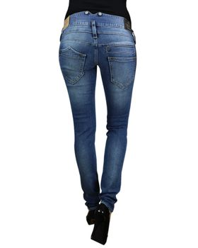 HERRLICHER Damen Jeans PITCH SLIM 5303 D9666 715 mid destroy Denim Powerstretch – Bild 4