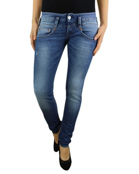 HERRLICHER Damen Jeans PITCH SLIM 5303 D9666 715 mid destroy Denim Powerstretch – Bild 2
