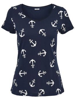 JDY by ONLY Damen Shirt Top T-Shirt jdyGLOW S/S ANCHOR TOP Anker kurzarm – Bild 4