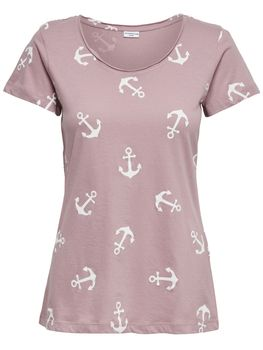 JDY by ONLY Damen Shirt Top T-Shirt jdyGLOW S/S ANCHOR TOP Anker kurzarm – Bild 7