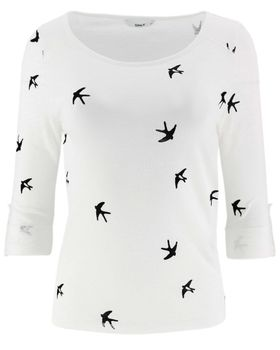 ONLY Damen Pullover Shirt onlJESS 3/4 WINGS ANCHOR TOP Vögel Anker Schmetterling – Bild 3