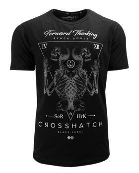 CROSSHATCH Herren T-Shirt BONESTEE CH SKEL ARCHED HEM TEE Totenkopf kurzarm – Bild 10