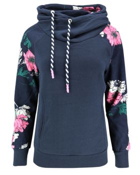 ONLY Damen Sweatshirt Hoodie Pullover onlAWESOME L/S AOP HOOD Blumen Kapuze – Bild 3