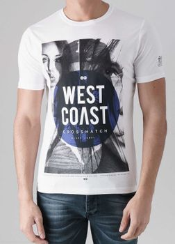 CROSSHATCH Herren T-Shirt WESTCOASTAL CH PHOTO PRINT TEE kurzarm – Bild 8