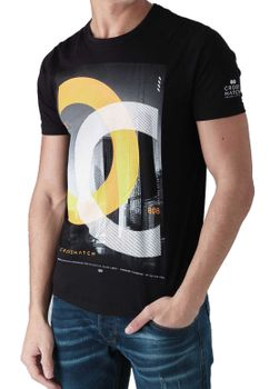 CROSSHATCH Herren T-Shirt CHICAGOS CH PHOTO PRINT TEE kurzarm