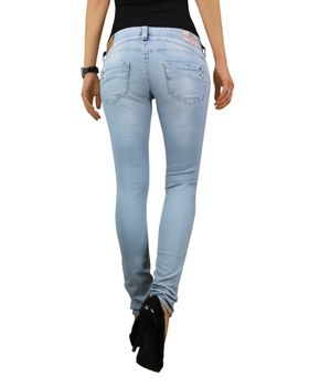 HERRLICHER Damen Jeans PIPER SLIM 5650 D9668 723 ice Denim Powerstretch hellblau – Bild 4