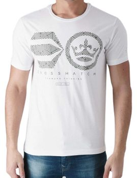 CROSSHATCH Herren T-Shirt MAZEOUT CH RAISED INK SYMBOL kurzarm – Bild 5
