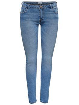 ONLY Damen Jeans Hose onlDYLAN LOW SK ANK PUSHUP skinny denim mittelblau knöchelfrei – Bild 2