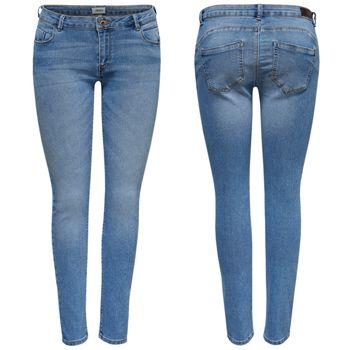 ONLY Damen Jeans Hose onlDYLAN LOW SK ANK PUSHUP skinny denim mittelblau knöchelfrei – Bild 1