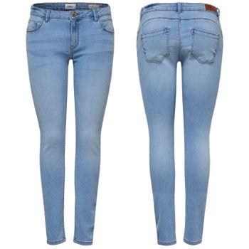 ONLY Damen Jeans Hose onlDYLAN PUSHUP REG SK ANK skinny denim hellblau knöchelfrei 001