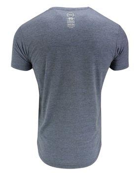 CROSSHATCH Herren T-Shirt KARRINGTON TEE 3D EMBR kurzarm meliert – Bild 4