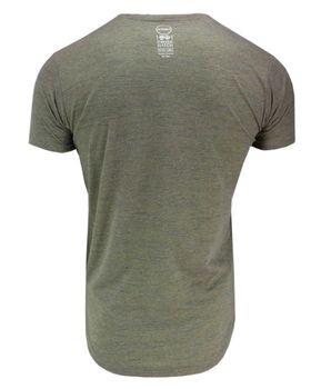 CROSSHATCH Herren T-Shirt KARRINGTON TEE 3D EMBR kurzarm meliert – Bild 7
