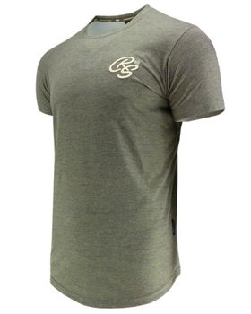 CROSSHATCH Herren T-Shirt KARRINGTON TEE 3D EMBR kurzarm meliert – Bild 6
