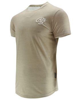 CROSSHATCH Herren T-Shirt KARRINGTON TEE 3D EMBR kurzarm meliert – Bild 9