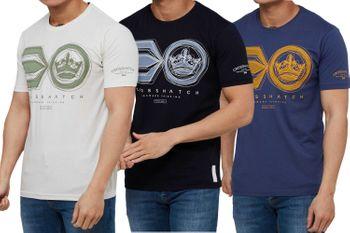 CROSSHATCH Herren T-Shirt RUFFNECK SYMBOL PRINT TEE kurzarm – Bild 1