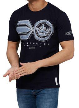 CROSSHATCH Herren T-Shirt RUFFNECK SYMBOL PRINT TEE kurzarm – Bild 4