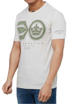 CROSSHATCH Herren T-Shirt RUFFNECK SYMBOL PRINT TEE kurzarm – Bild 2