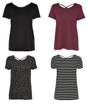 ONLY Damen Sommer Blusen Shirt Top Tunika onlBERA BACK LACE UP S/S TOP JRS kurzarm 4 Varianten 001
