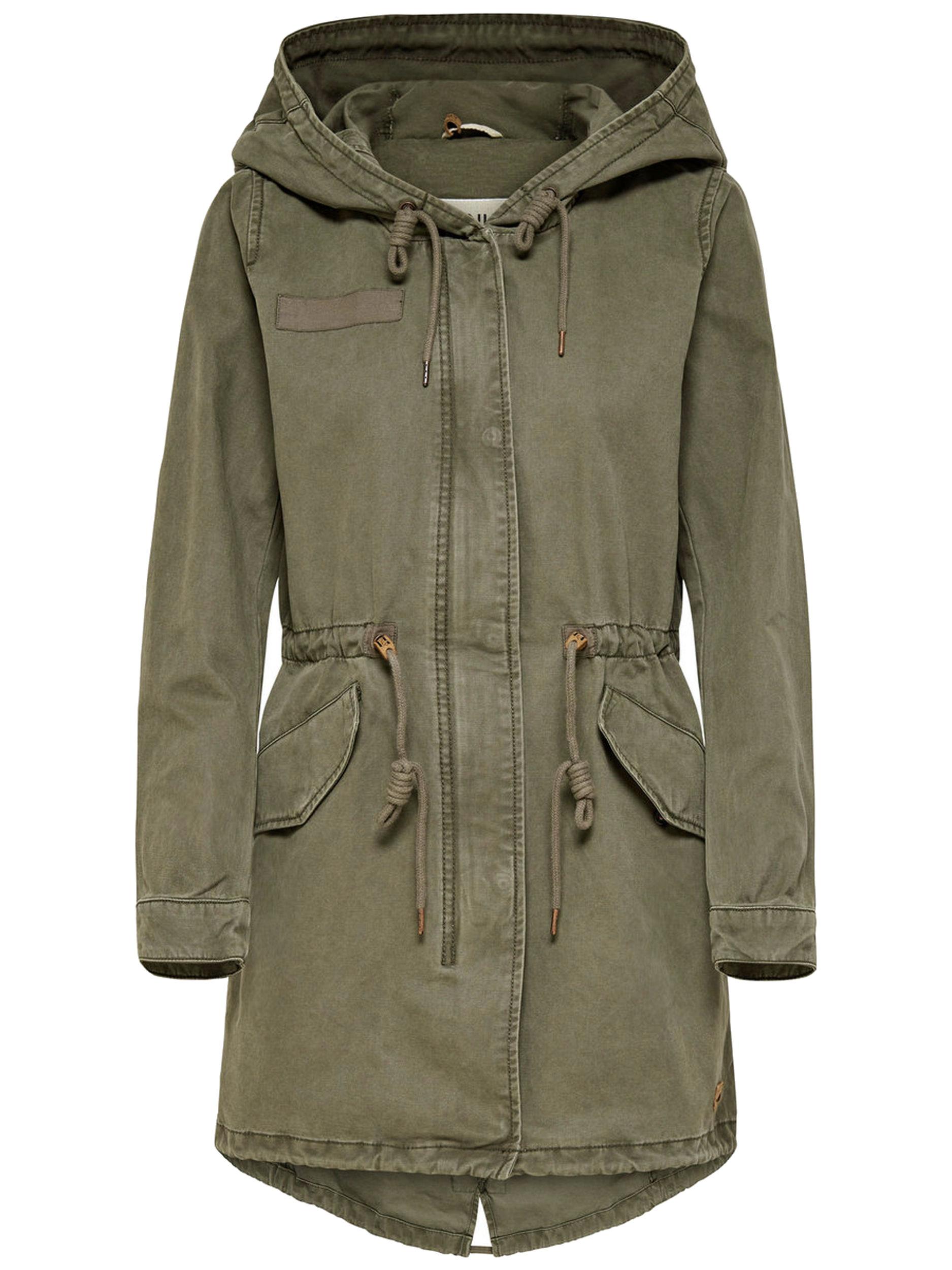 new product 8263e 1da34 ONLY Damen Übergangs-Mantel Jacke onlFAVOURITE CANVAS PARKA COAT Kapuze  Frühling