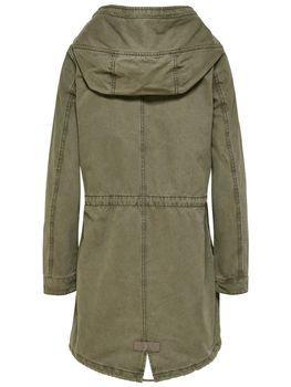 ONLY Damen Übergangs-Mantel Jacke onlFAVOURITE CANVAS PARKA COAT Kapuze Frühling – Bild 2