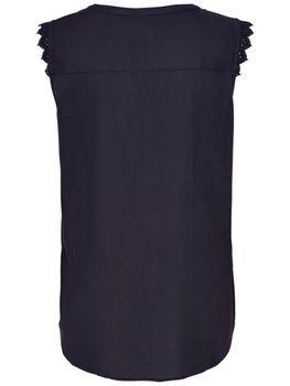 ONLY Damen Bluse Tunika Shirt onlKIMMI S/L TOP WVN NOOS Sommertop weiß blau ärmellos – Bild 4