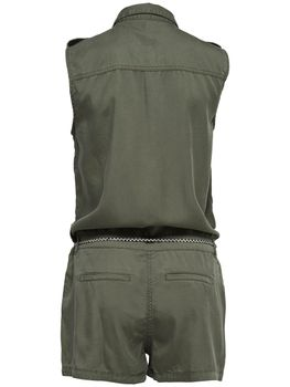 ONLY Damen Overall Jumpsuit onlARIZONA S/L NEW BELT PLAYSUIT PNT kurz khaki Military – Bild 2