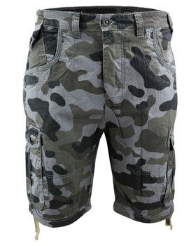 CROSSHATCH Herren Shorts RYEHILL CAMO COMBAT kurze Hose Camouflage – Bild 4