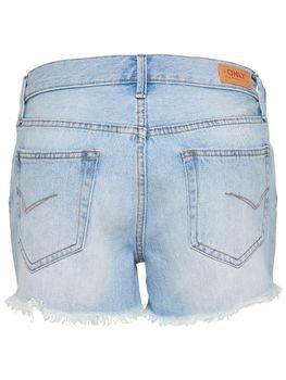 ONLY Damen kurze Jeans Hose onlDIVINE REG SHORTS LT BLUE NOOS Hotpant hellblau – Bild 2