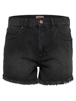ONLY Damen kurze Jeans Hose onlDIVINE REG SHORTS BLACK NOOS Hotpant schwarz 001