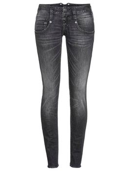 HERRLICHER Damen Jeans PITCH SLIM 5303 DB922 602 titanium Denim Black Stretch grau