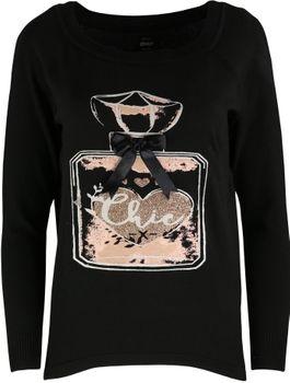 ONLY Damen Strick Pulli Pullover onlNOELLE L/S PULLOVER KNT schwarz altrosa hellgrau – Bild 2