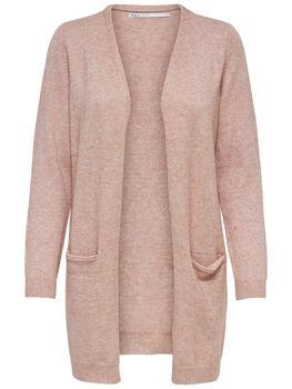 ONLY Damen Strickjacke Jacke onlQUEEN L/S LONG CARDIGAN KNT NOOS rosa grau schwarz Streifen – Bild 4