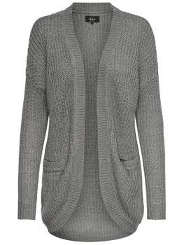 ONLY Damen Oversize Strickjacke Jacke onlEMMA NEW L/S CARDIGAN KNT weinrot schwarz grau – Bild 2