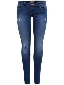 ONLY Damen Jeans Hose onlCORAL SL SK DNM CRYA022 superlow skinny dunkelblau – Bild 2