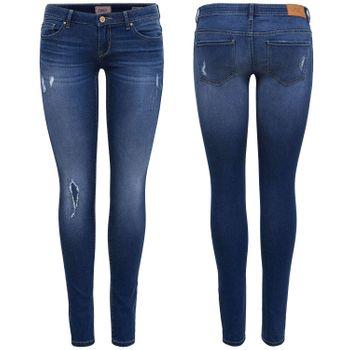 ONLY Damen Jeans Hose onlCORAL SL SK DNM CRYA022 superlow skinny dunkelblau – Bild 1