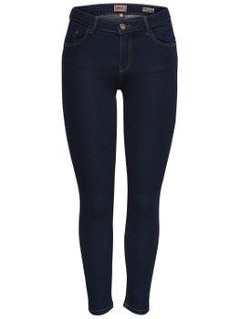 ONLY Damen Jeans Hose onlDAISY REG PUSHUP SK ANK JNS MJ02 NOOS skinny knöchellang blau