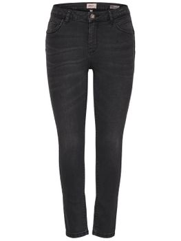 ONLY Damen Jeans Hose onlDAISY REG PUSHUP SK ANK MJ1903 NOOS skinny knöchellang grau 001