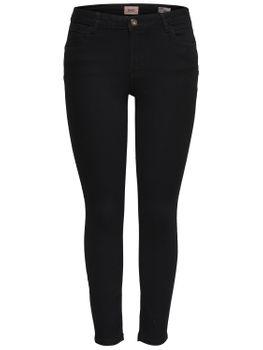 ONLY Damen Jeans Hose onlDAISY REG PUSHUP SK ANK JNS MJ01 NOOS skinny knöchellang schwarz