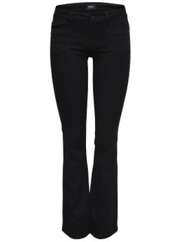 ONLY Damen Hose EBBA SOFT BOOTCUT JEANS PIMBL01 denim schwarz Flared Fit – Bild 1